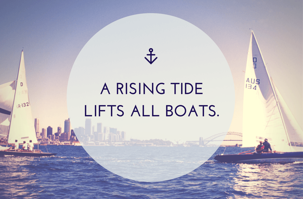 A Rising Tide Lifts all Boats Quote TpT Conference
